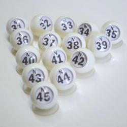 Bingo Ball Waiters - N row 31-45 per package