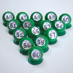 Bingo Ball Waiters - G row 46-60 per package