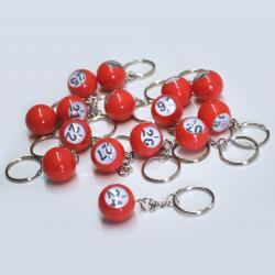 Bingo Ball Keychain - I row 16-30  15 pieces per package