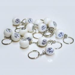 Bingo Ball Keychain - N row 31-45  15 pieces per package