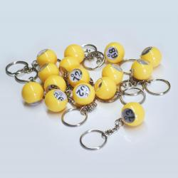 Bingo Ball Keychain - O row 61-75 15 pieces per package