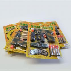 Combo Air Gun and Dart Set- 8 Assorted with Varying Accessories