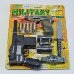 Toy Dart Gun Set- 2 Pistols and Other Toys