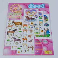 Horse Sticker Set- Full Color Metallic Stickers-  (Between 80-100 Stickers)