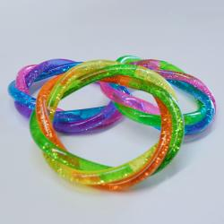 Braided Glitter Water Bracelet- 3 Part- Assorted Colors