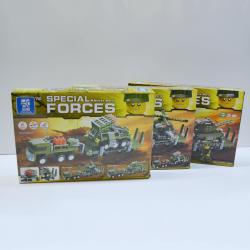 Block Assembly Toy Gift Set- Giant 330+ Piece Military Set-2 Assorted