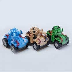 Stunt Military Tank- Assorted Colors- 9 Piece Display