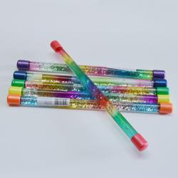 Glitter Baton- 12 Inch Long- Filled with Glitter and Water