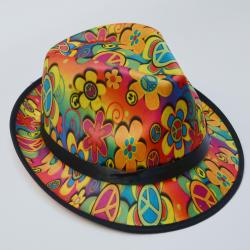 Peace and Smile Fedora- w/Black Band
