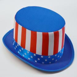 Patriotic American Flag Top Hat