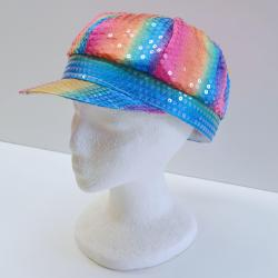 Sequin Rainbow Cap