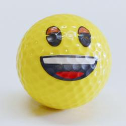 Smile Emoji Golf Ball