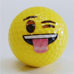 Winking w/Tongue Out  Emoji Golf Ball