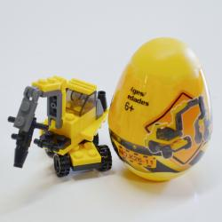 Construction Block Assembly Toys- Each in Egg-Shaped Container- 2 Doz Display