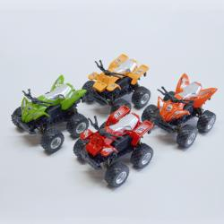 Die Cast 4X4 ATV Quad- 3 Inches Long- 1 Doz Dsp- Assorted Colors- Friction Powered