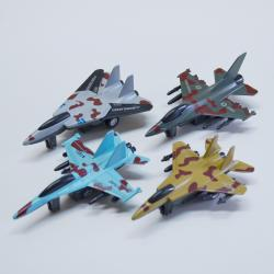 Die Cast Fighter Planes- Pull Back- 4 Inches Long- 1 Doz Dsp- Assorted Colors