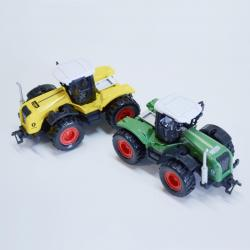 Die Cast Farm Tractor 4 Inches Long- Pull Back- Asst Colors- 18 Pc Display