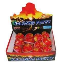 Red Volcano Putty- 3 Inch Container- 1 Dozen Display Box