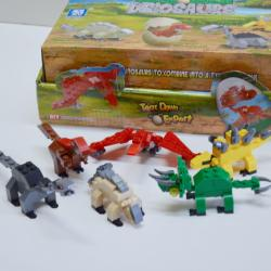 Dinosaur Block Assembly Toy Set in Egg- 30 Piece Average- 8 Assorted