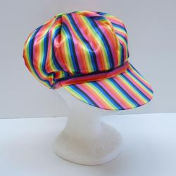 Oversized Rainbow Cap- Satin-like Material