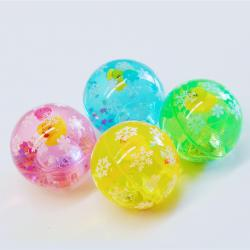 Flashing Water Ball- Rubber Ducky w/Light- 65mm Diameter- 1 Doz Dsp Box