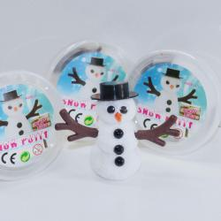Snow Putty w/ Foam Beads- Build a Snowman- 3 Inch Diameter Container