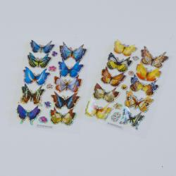 3D Butterfly Stickers w/Flapping Wings- 10 Piece Card