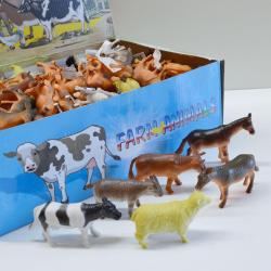 17691 - Farm Animals- Medium Size- 3 to 4 Inch- 6 Assorted- 10 Doz Dsp