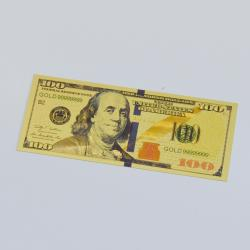 Gold Foil Bookmark- $100 Bill