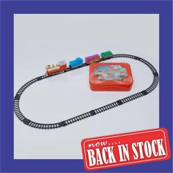 Train Set- Battery Operated w/ 4 Cars and 12 Tracks in Carrying Case
