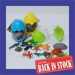 Ocean Animals in 5 Inch Egg- 18 Piece- 12 Piece Display Box