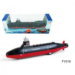 Die Cast Submarine- 8.5 Inch- Pull Back Action