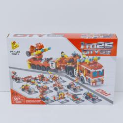 Giant Block Assembly Fire Truck- 558 Piece Set- 12-In-1