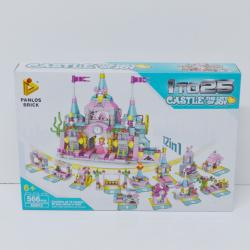 Giant Block Assembly Princess Castle- 566 Piece Set- 12-In-1