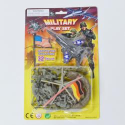 Carded Military Assortment- 32 Pieces on Blister Card