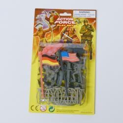 Small Carded Military Assortment- 22 Pieces on Blister Card