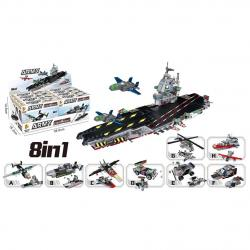 Block Assembly Aircraft Carrier Assortment- 8-in-1 Styles- 90 Pc Average