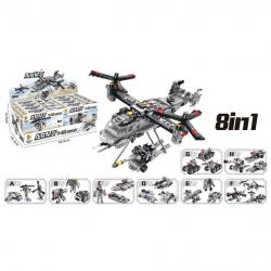 Block Assembly Army Helicopter Assortment- 8-in-1 Styles- 90 Pc Average