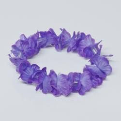 Purple Hawaiian Flower Lei Bracelet