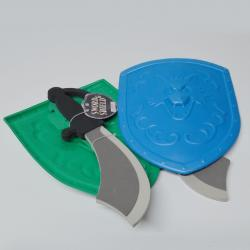 Foam Sword and Shield Set- 14 Inch Sword w/ 11 Inch Sheild