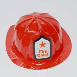 Red Fire Chief Hat- Soft Plastic