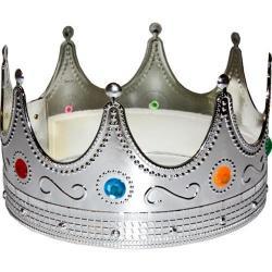 Silver Kings Crown- Metallic Plastic