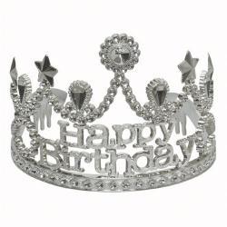 Happy Birthday Tiara- Silver