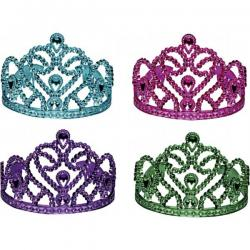 Tiaras- 4 Assorted Bright Colors- Jeweled Design