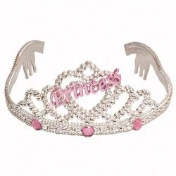 Silver Tiara w/Jewels- 3 Assorted Colors