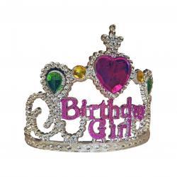 Silver Birthday Girl Tiara- Multicolor Gems