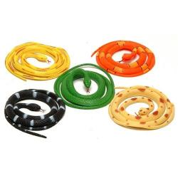 Rubber Snake- 42 Inch- Asst Colors- 24 Pc Display Box