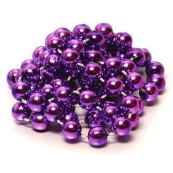 Round 7.5mm Purple Bead- 33 Inch