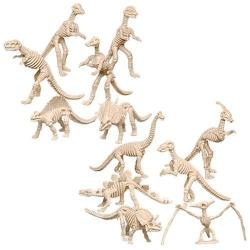 Dinosaur Fossil Figurine- 4-6 Inch Average- 36 Pc Display Box