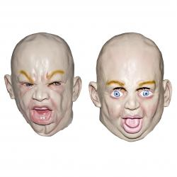 Baby Face Halloween Mask- Adult Size
